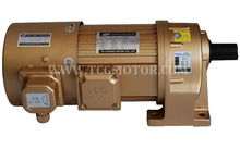 Compact VFD Variable Speed Drive AC Gear motor with forced fan
