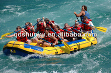 4.8m 10persons white water inflatable raft with self drain bottom