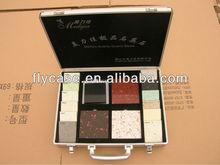 2012 quartz stones sample case /aluminum case with lock /handle for stone sample