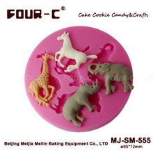 Jungle Animals dessert moulds,silicone dessert decorating tools,sugarcraft