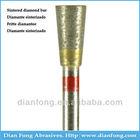K037F HP Shank Inverted Cone Shaped Fine Grit Durable Sintered Diamond Burs Dentist Drill