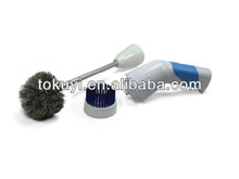 Battery operated electric toilet cleaner