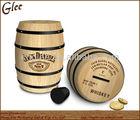 mini children famous wooden barrel tip jars