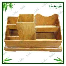 Fashionable Bamboo desk organizer stationery box