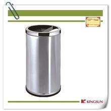 home recycling bin with ashtray metal body no moq