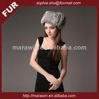 chinchilla rabbit fur lady's winter cheap hat