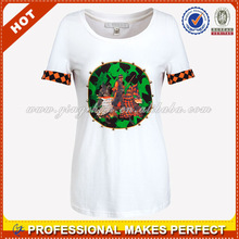Fashion girl t shirt with cool pattern(YCT-A0029)