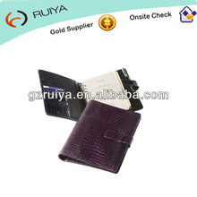 A5 Leather Personal Organiser Leather Address Book Cover A5 size Notepad Pads Writing Holder-JC-008