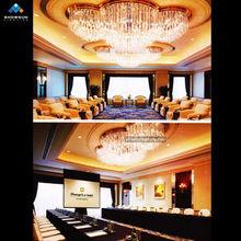 golden chandelier lighting meeting room