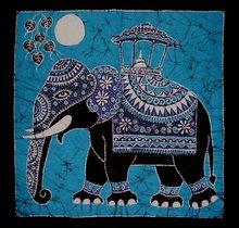 Batik Art Wall Hanging - Elephant (Hand made Batik Art)