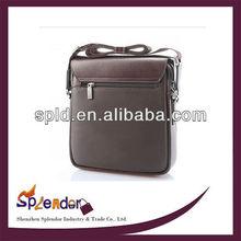 2013 New fashion genuine leather men handbag/ men's business bag shoulder bag For meeting