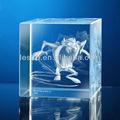 láser 3d cubos de cristal
