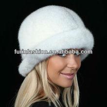 New design Elegance Ladies Winter Mink Fur Cap