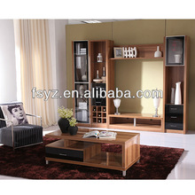 Polished mdf living room furniture/end table&wall unit/cabinet