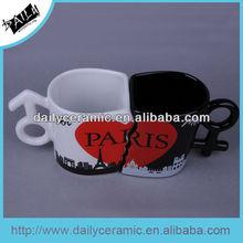 special shape ceramic valentine's mug