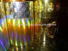 Gold Colour Holographic film.