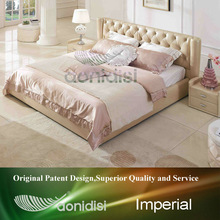Faux Leather Pink Queen Bed EB1190