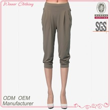 fashion girl/lady trousers loose capris stretch waist tight hem lady trousers