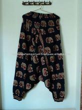 harem pants printed elephant