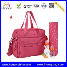 High Quality Cheap New Designer Trendy Red Microfiber OEM Baby Diaper Shoulder Bag