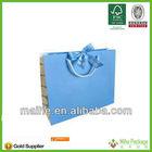 ribbon handle colorful print with logo shopping art paper bag