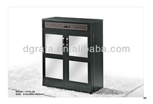 2013 shoes storage cabinet design is made by melamine board and PU for living room