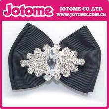 2013 beautiful elegant black single shoes metal flower buckle