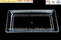 "Reusable cheap plastic rectangular serving tray(12""x8"")"