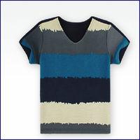 wholesale the boy's striped cotton net t-shirt,kid light t-shirts manufacturer china