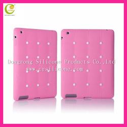 Diamond silicone case for apple ipad mini,High quality for ipad mini bear case cover