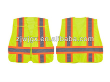 Hi-vis ANSI Class 2 Safety Vest for Day / Night Use, Made of 100% Polyester Mesh