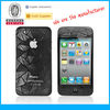 Funny cell phone accessories for iPhone 4s (Screen Protector) oem/odm (3D-Anti-Fingerprint)
