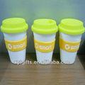 400ml plástico taza de bebida/anillo de silicona tazas/taza de plástico