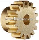 high quality CNC machining precision micro brass driving spur gear