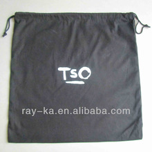 black cotton drawstring bag
