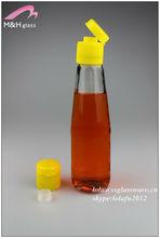 200ml glass sauce cruet bottle with cap