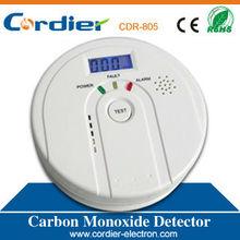 EN50291 standard CO detector alarm with LCD display