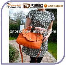 Ladies Genuine Leather Grab Buckle Handbag Wholesale