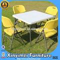 plástico leve e resistente ao ar livre do jardim mesa e cadeira