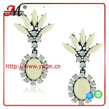 ER4338 Jingmei Gem jewelry fashion rhinestone big earrings fluorescence color