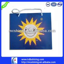 Cheap LED Light up Music Paper Hand Bag