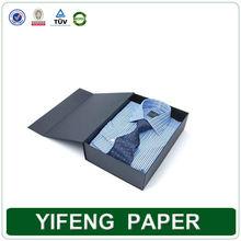 Wholesale Flat Pack Printed Fancy Folding Paper Men Dress Shirt Boxes with lids