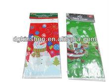 2015 newest Christmas Joyful Snowman Plastic Tablecover Tablecloth