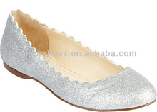shiny flat shoes with good quality women casual shoes (style no. WE099)