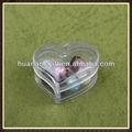 Huanan en forme de coeur petites boîtes en plastique acrylique boîte 15 chapelet.