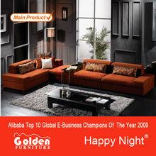 Alibaba francês venda quente sala de estar mobiliário de design em forma de l sofá designs ( EM-826 )