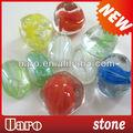 pescado tazón de vidrio de colores de piedra material de ornamentación