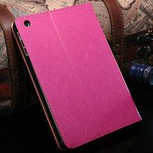 colorful book type genuine leather case for ipad mini