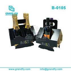 Creative Style Novelty Cardbord 4 Bottle of Wine Carrier