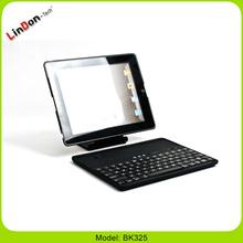 For ipad 4 keyboard case, wireless keyboard bluetooth 360 rotating ABS keyboard case for new iPad BK325